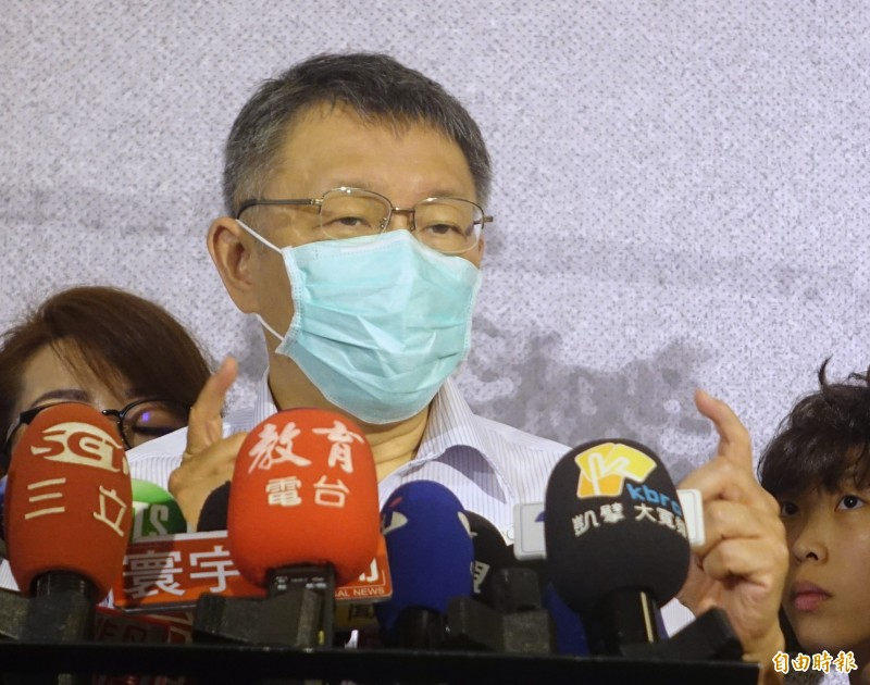 台北市長柯文哲出席「回到1920台北設市百年活動」宣傳記者會,強調監委人事案還是要照程序來,該審查還是要審查。(記者王藝菘攝)