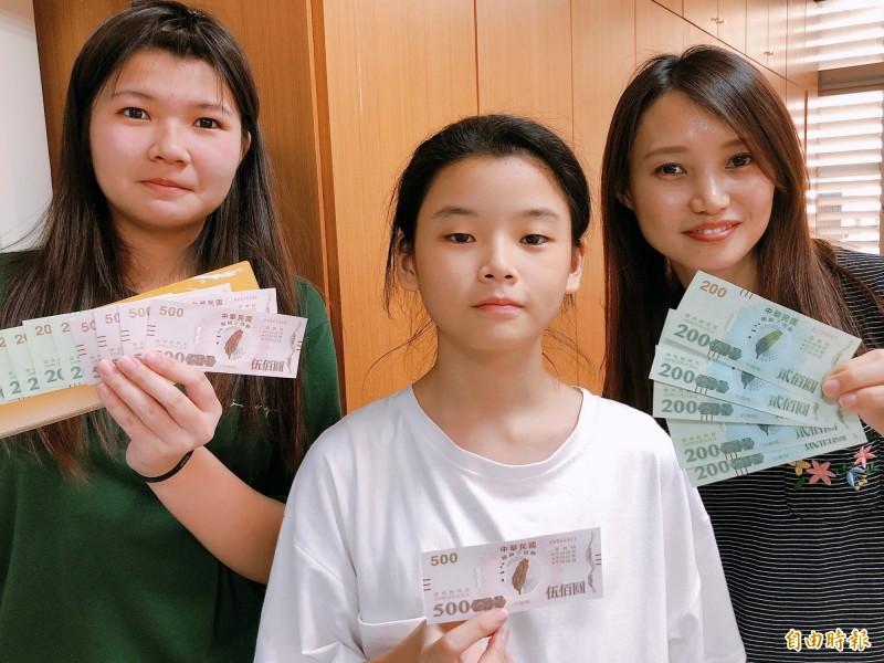 雲林家扶接到2筆三倍券捐款,社工好窩心。(記者林國賢攝)