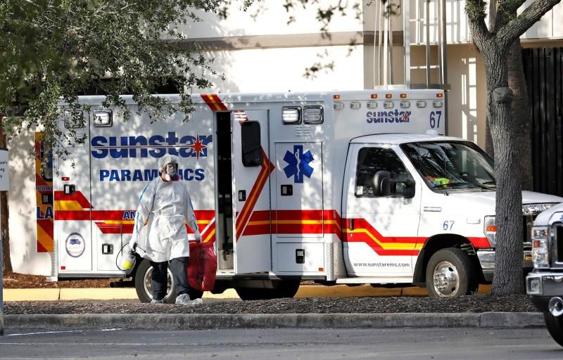 美國佛羅里達州16日通報新增156人死亡,創下單日新高。(路透)