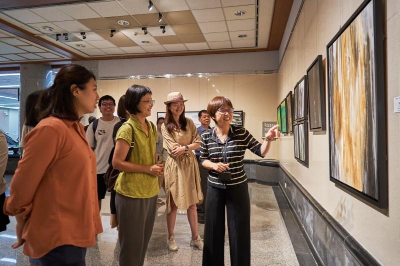 卓淑敏「太和之初」個展,將在港區藝術中心展出至8月9日止。(港區藝術中心提供)