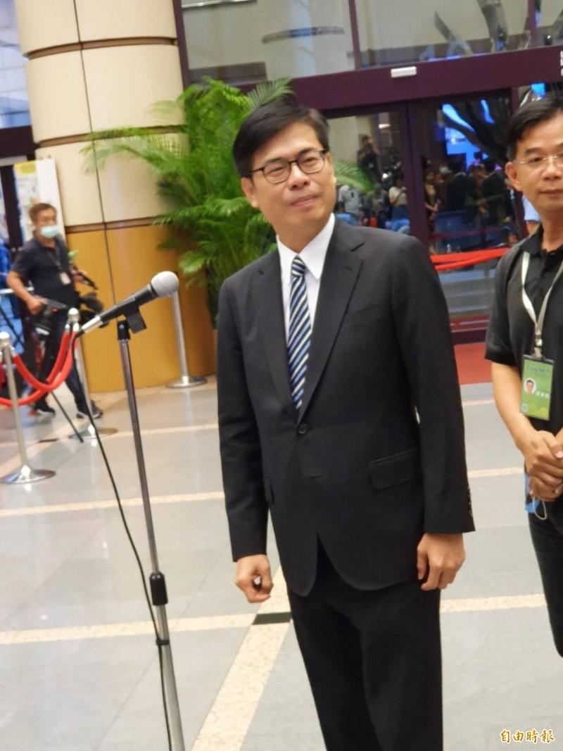 民進黨高雄市長補選候選人陳其邁。(記者謝君臨攝)