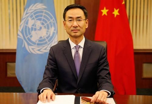 耿爽(見圖)指出,台灣的民主制度是全華人世界的實驗場。(圖取自中國外交部)