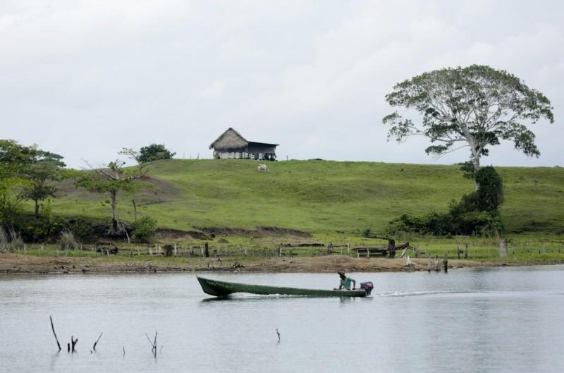 巴拿馬加通湖附近發生駭人聽聞的謀殺案,7名年輕人慘遭殺害。加通湖示意圖。(美聯社)