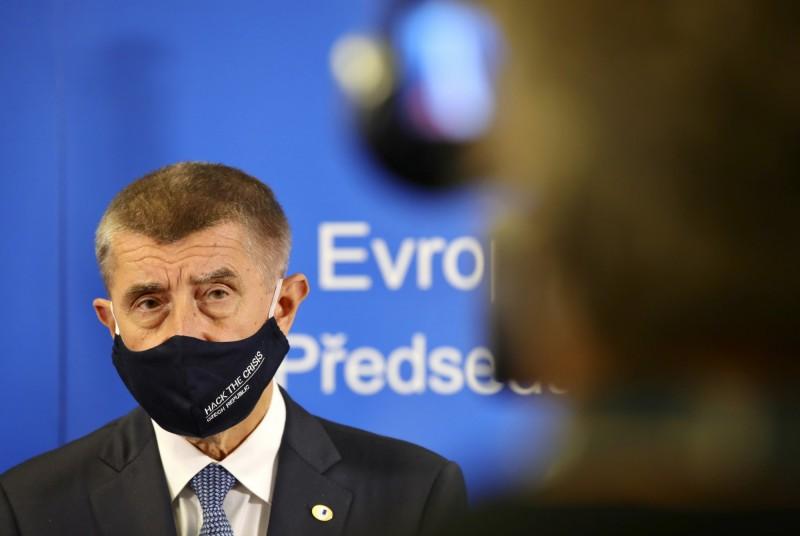 捷克的武漢肺炎疫情反彈,活躍病例已增至4764人,超過4月份以來的創下新高。圖為捷克總理安德烈·巴比斯。(美聯社)