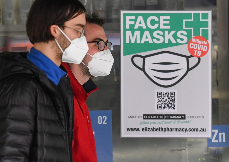 澳洲維州今天新增武漢肺炎確診病例275例,而新南威爾斯州亦新增20例,澳洲衛生當局認為,這波疫情要持續數週後才有可能趨緩。(法新社)