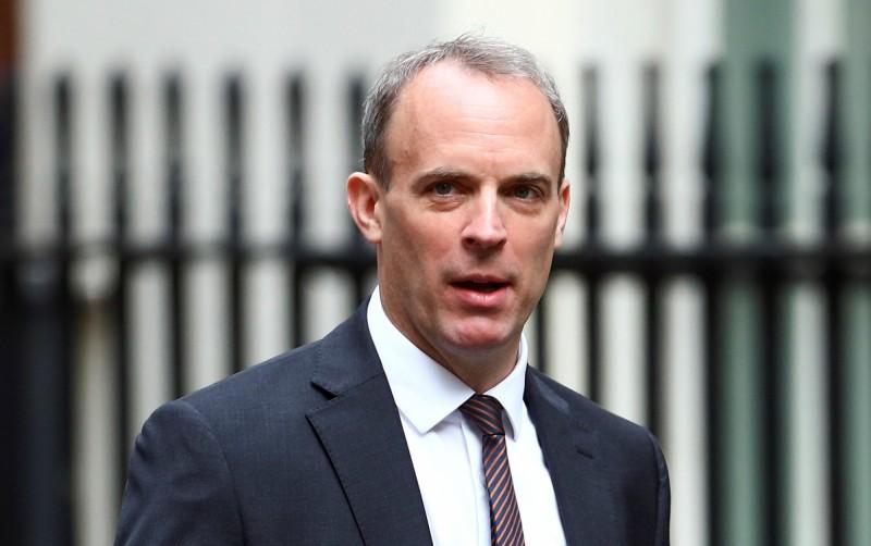 英國外交大臣拉布(Dominic Raab)20日在國會宣布,英國立即「無限期」中止與香港的引渡條約。(路透)