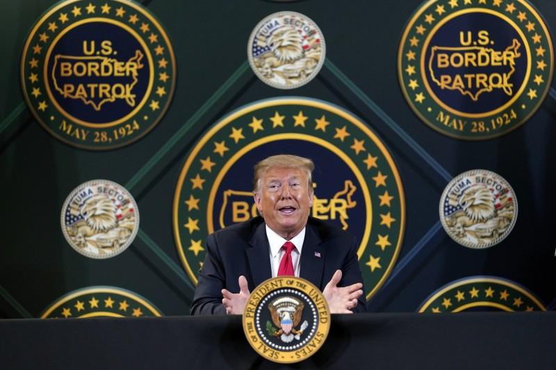 美國總統川普為尋求連任,6月展開廣告宣傳攻勢,狂灑1.47億台幣,圖為川普。(美聯社)
