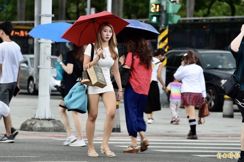 中央氣象局指出,今天(21日)中午前各地為高溫炎熱的天氣,午後則有熱雷雨發展。(資料照)