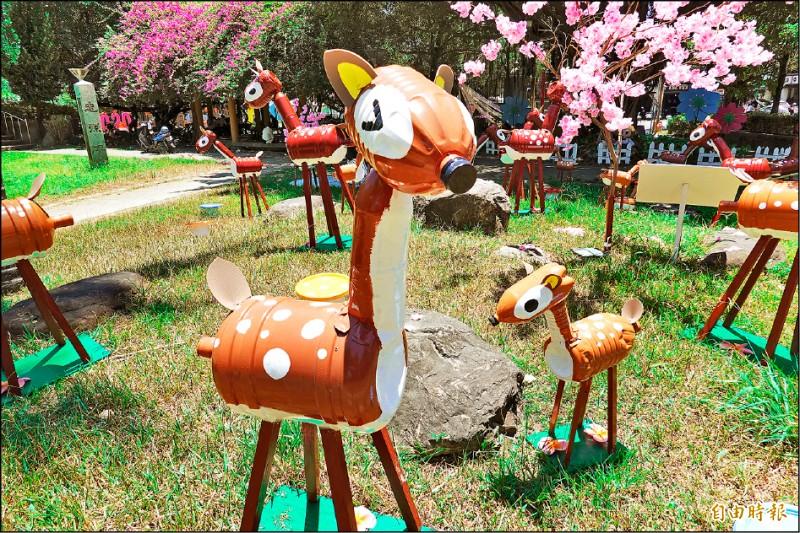 羅東藝穗節森林奇境裝置藝術充滿童趣。(記者江志雄攝)