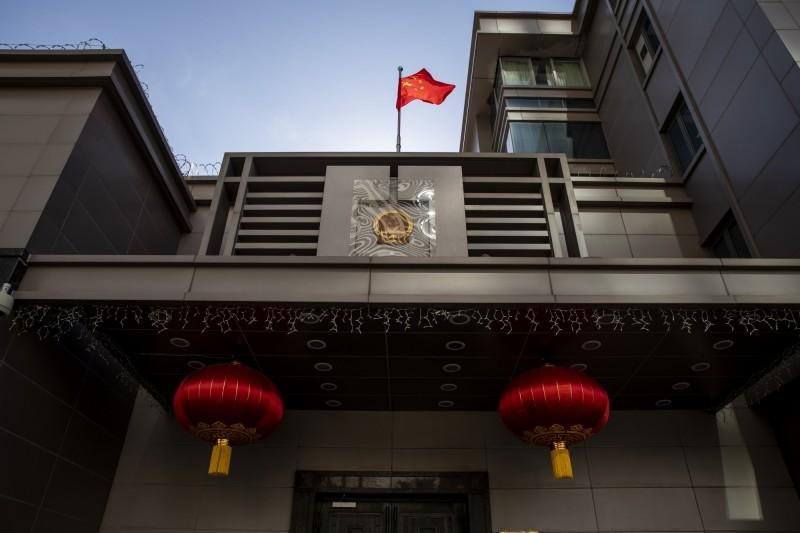 中國駐休士頓總領事館遭下令72小時內關閉。(彭博)