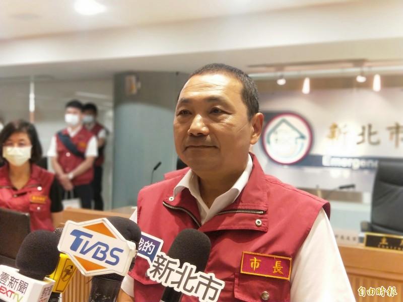 新北市長侯友宜表示,他以市政為優先,但也會盡黨員應盡的義務。(記者何玉華攝)