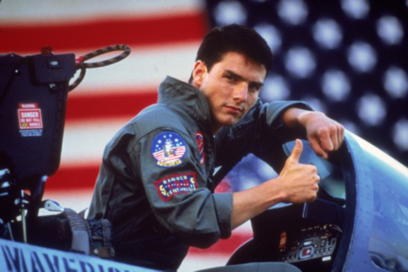 好萊塢巨星湯姆克魯斯主演的新片《捍衛戰士:獨行俠》,拿掉了在第一集中曾出現的中華民國國旗。圖為第一集劇照。(美聯社)