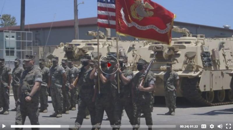 美國陸戰隊第4戰車營A連日前在加州彭德爾頓營區舉行解編儀式。(圖翻攝自美陸戰隊官網)