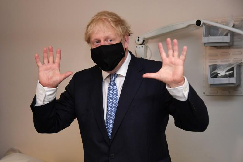 英國首相強森。(法新社)