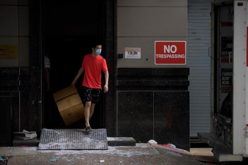 中國駐休士頓人員將總領館已經清空。(法新社)