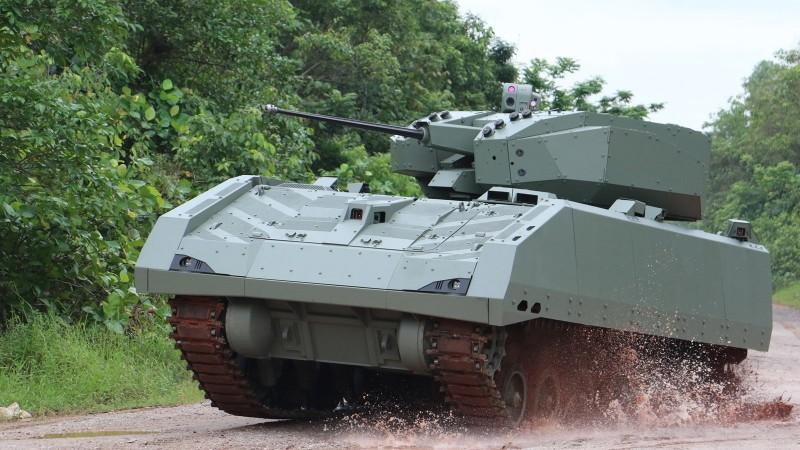 新加坡獵人步兵戰鬥車(Hunter AFV)近期展開正式部署,圖為獵人步兵戰鬥車。(擷取自ST Engineering官網)