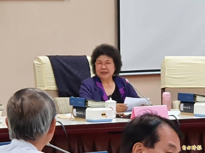 準監察院長陳菊首度主持職前談話會。(記者謝君臨攝)