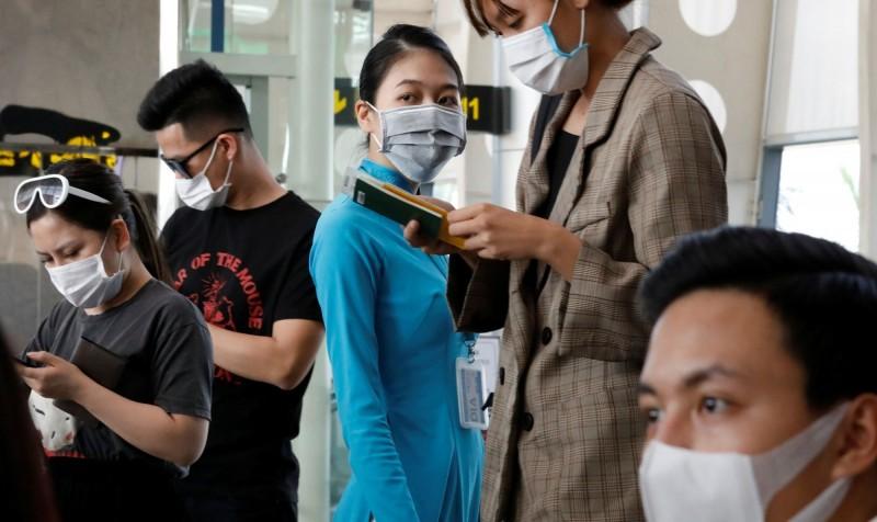 越南峴港出現武漢肺炎(新型冠狀病毒病,COVID-19)社區感染,當局今(27日)展開撤離峴港8萬名遊客的行動。峴港機場示意圖。(路透)