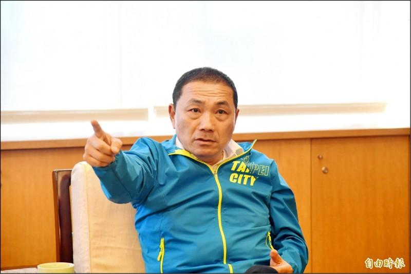 新北市長侯友宜。(記者賴筱桐攝)