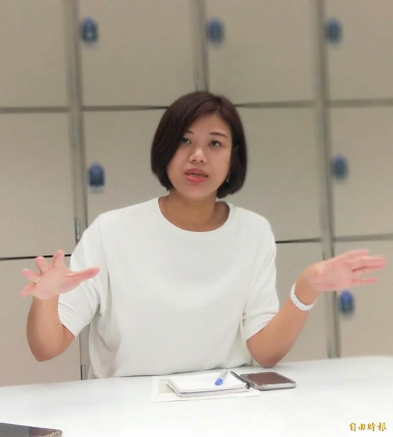 新北市政府新聞局長蔣志薇表示,侯友宜談的是市政發展願景,與政治無關。(記者何玉華攝)