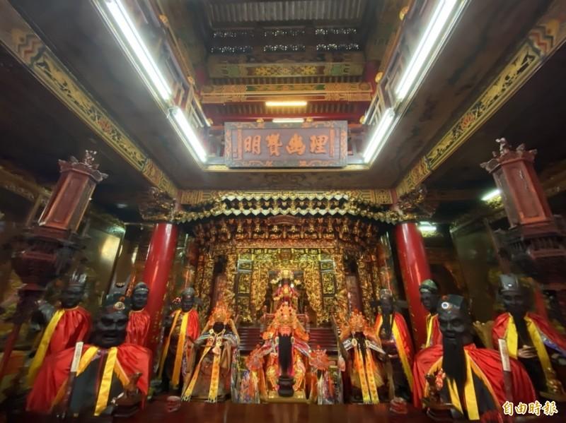 建廟於1733年的彰邑城隍廟,廟方管理委員會將於7月31日到8月4日一連5天舉辦庚子年城隍出巡遶境活動。(記者張聰秋攝)