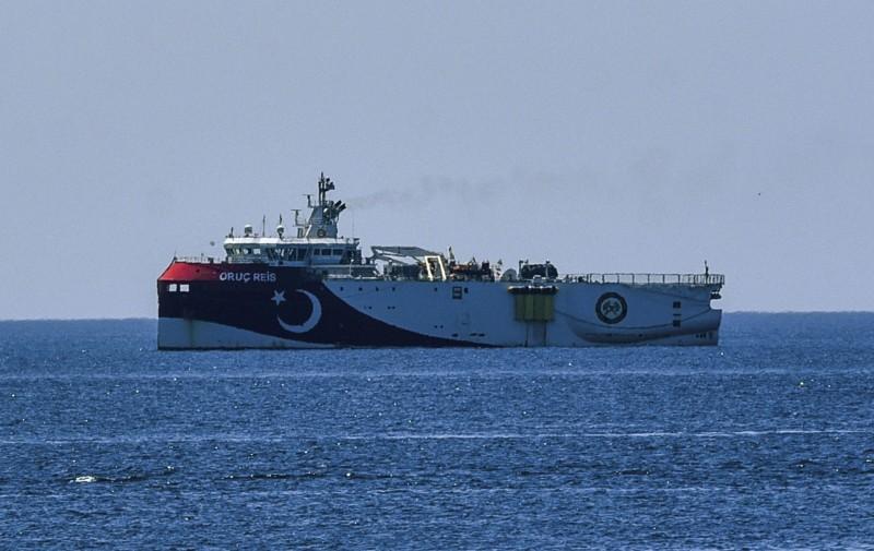 西班牙外交部部長龔薩雷茲27日表示,在與土國政府會談後,部分爭端已到達轉捩點,圖為土耳其先前派出的Oruc Reis研究船。(美聯社)