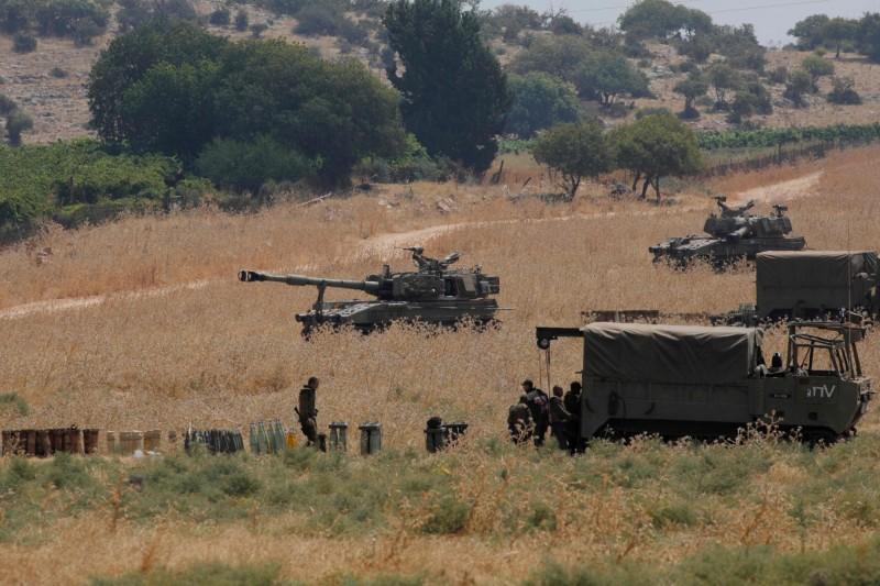 以色列軍隊和黎巴嫩真主黨在邊境交火。(法新社)