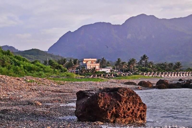 退休教師賴健一在東海岸富山海域拍攝的珊瑚礁,在特定角度、光影之下,活像頭棕熊。(記者黃明堂翻攝)