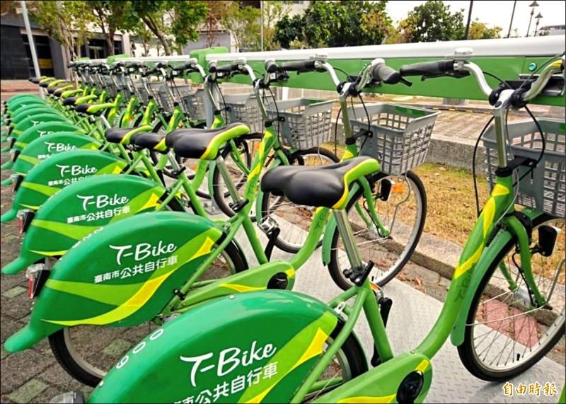 台南T-Bike提供輕旅行及通勤交通工具。(記者洪瑞琴攝)
