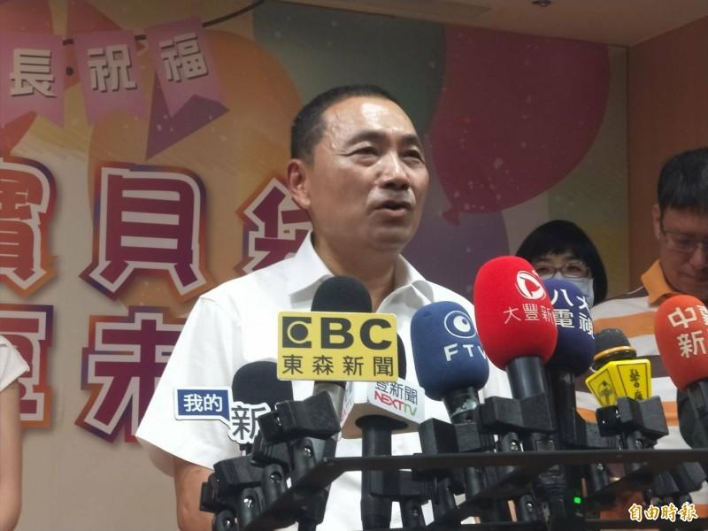 新北市長侯友宜說,8月1日結束市政行程後,他會南下高雄輔選李眉蓁。(記者何玉華攝)