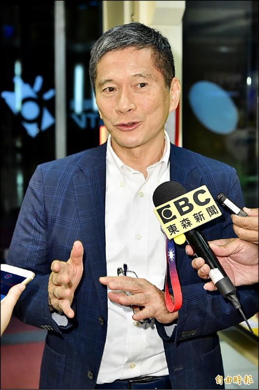 文化部長李永得上公視《有話好說》說明「國際影音平台」爭議。(記者陳逸寬攝)
