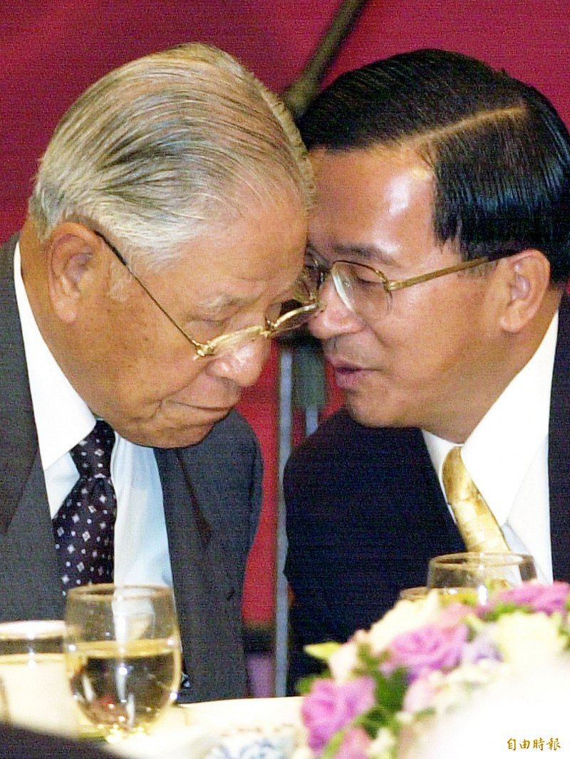 前總統李登輝縱橫政壇超過半世紀,與前總統陳水扁之間的關係有著許多的恩怨情仇。(資料照)