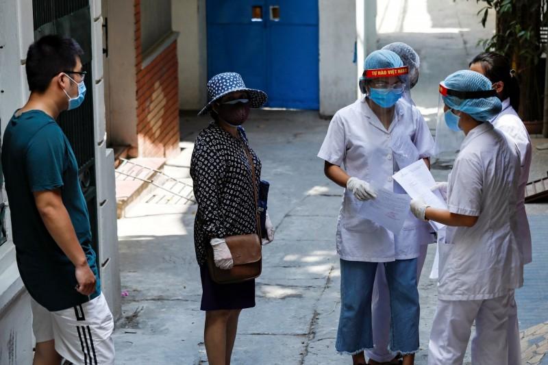越南今天新增9例武漢肺炎確診患者,其中1例在越南首都河內、8例來自峴港,然而這9例全部與上週末峴港開啟的新一波疫情有關。(路透)