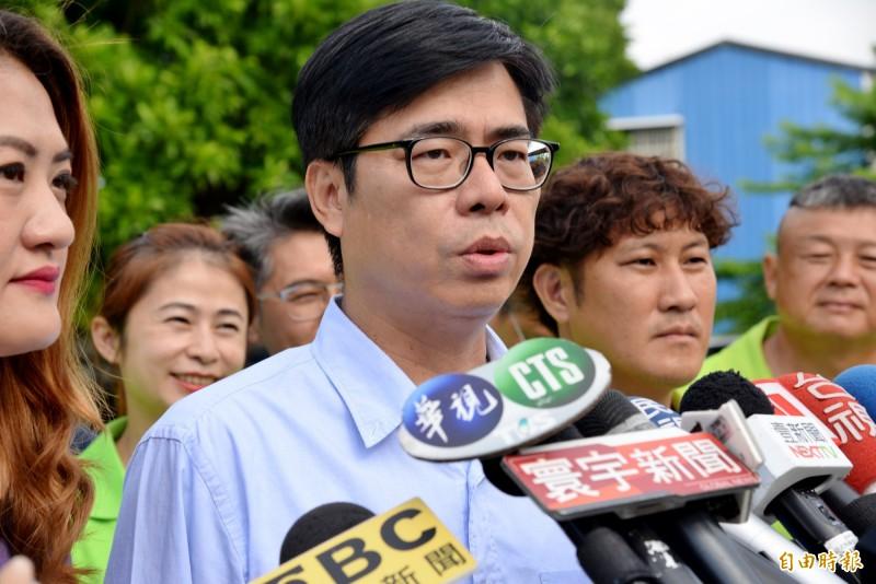 陳其邁表示電視政見發表會,會接地氣的提出政策。(記者許麗娟攝)