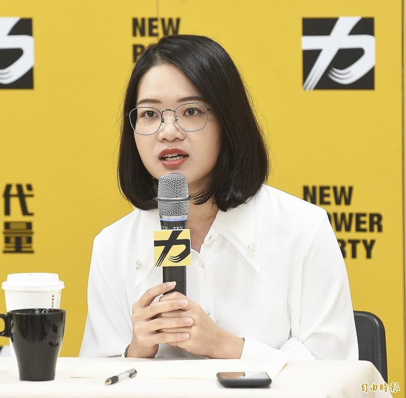 時力台北市議員黃郁芬則呼籲徐永明盡快對外說明,並在調查釐清前自請停止黨內職權。(資料照)