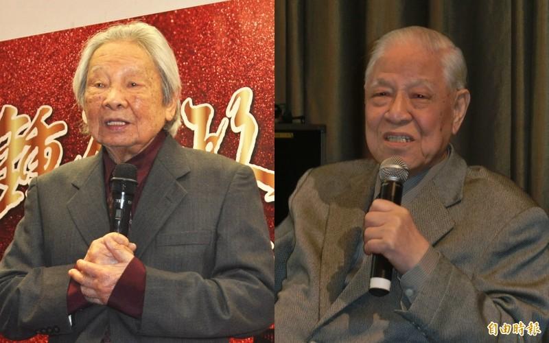 朱宥勳感慨,前總統李登輝(右)與作家鍾肇政(左)同年離世。(資料照合成圖)