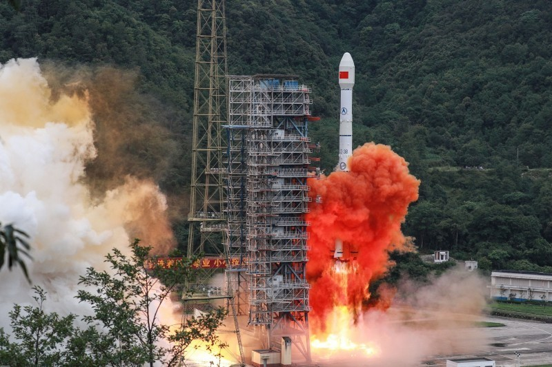 The last satellite of China's Beidou-3 was successfully launched at 9:43 am on the 23rd of last month.  (AFP)