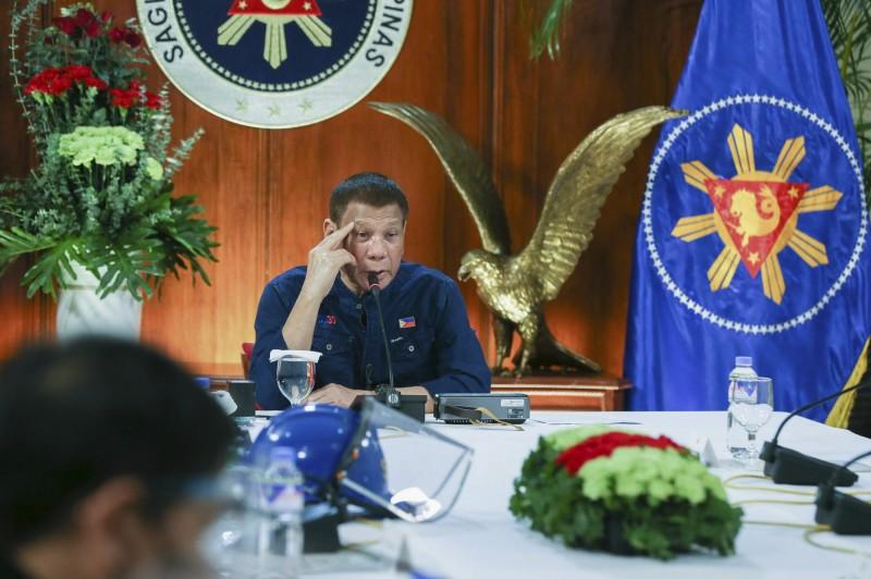 菲國總統杜特蒂承諾提供免費疫苗給民眾。(美聯社)
