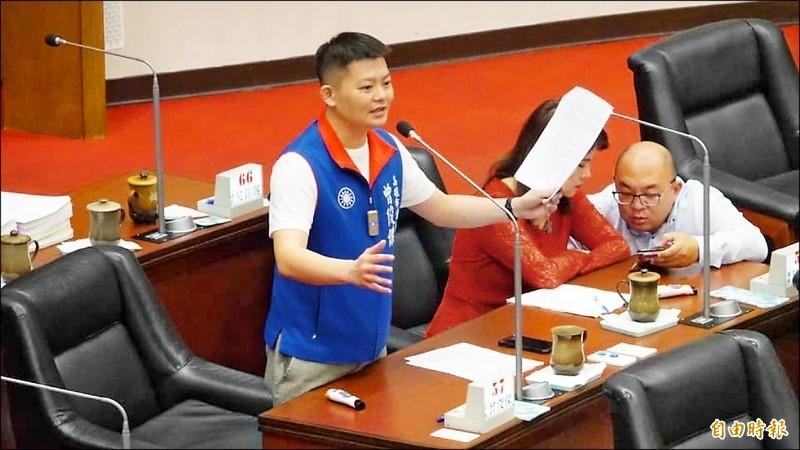 曾俊傑宣布辭國民黨高雄市議會黨團總召一職。(資料照)