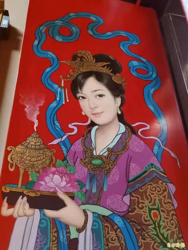 台南最美的女門神! 台南太帥宮祀4女神尊 女門神超正