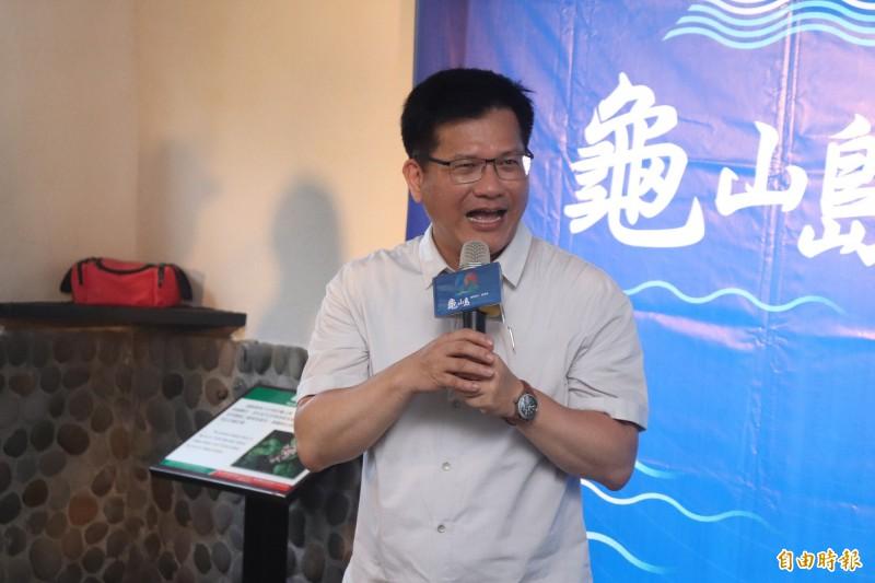 交通部長林佳龍說,李前總統留下的資產值得研究,他稱之為「李登輝學」,需要加以珍惜與發揚光大。(記者林敬倫攝)