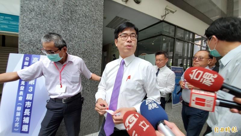 民進黨高雄市長補選候選人陳其邁。(記者陳文嬋攝)