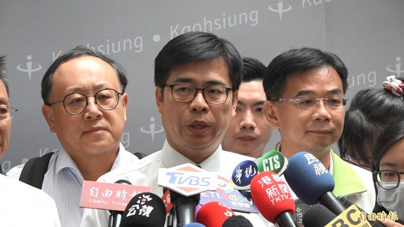 高雄市長補選民進黨候選人陳其邁。(記者李惠洲攝)