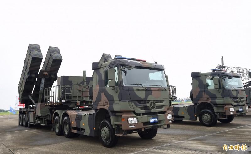 因應共軍從台灣東部威脅,軍方已將天弓三型飛彈(如圖)及愛國者三型飛彈移防部署花東地區,增強防衛戰力。(資料照)