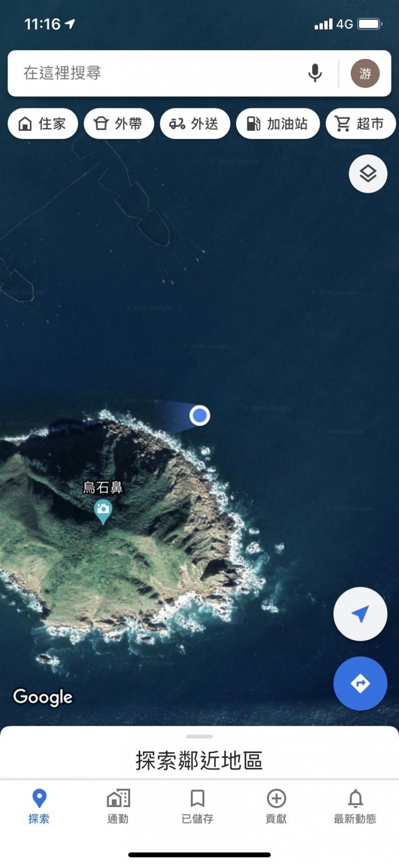 事發地點(右上角,藍色圈圈處)。(記者江志雄翻攝)