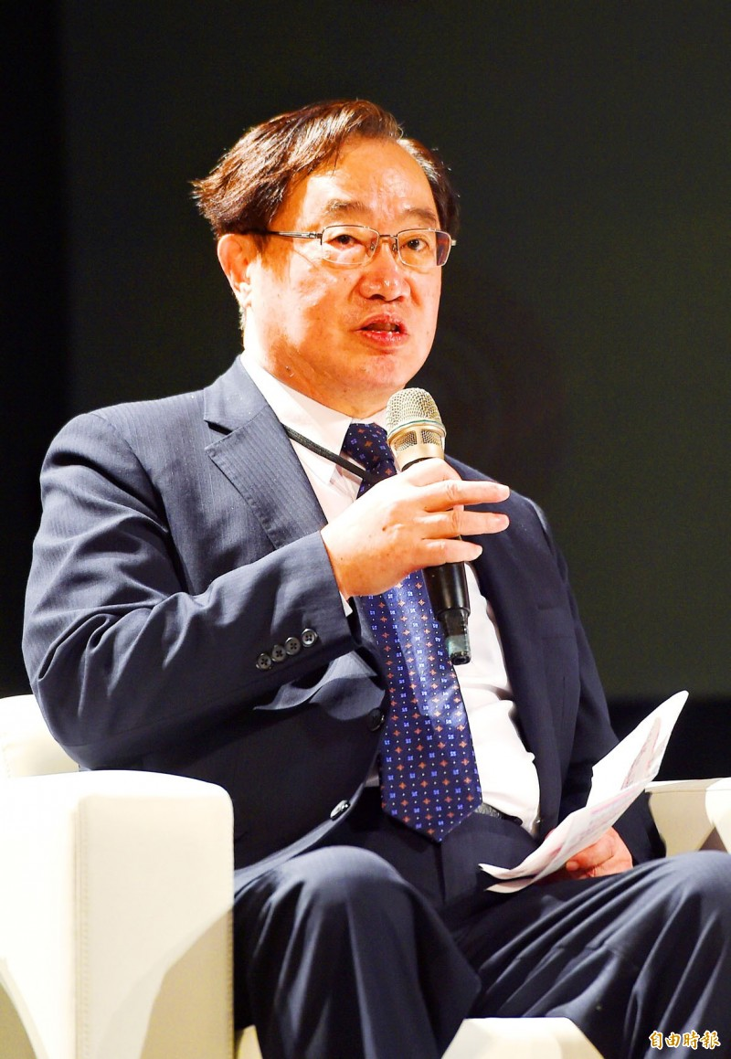 Taiwan Stock Exchange chairman Hsu Jan-yau speaks at the 2020 Taiwan Capital Market Forum in Taipei on Friday.   Photo: Liu Hsin-de, Taipei Times