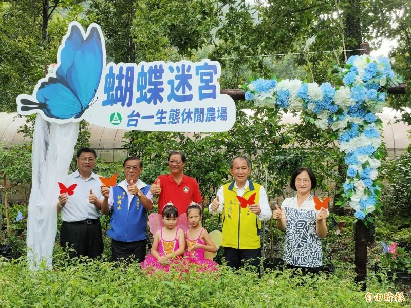 南投縣埔里鎮台一生態休閒農場首創「蝴蝶迷宮」今正式啟用。(記者佟振國攝)