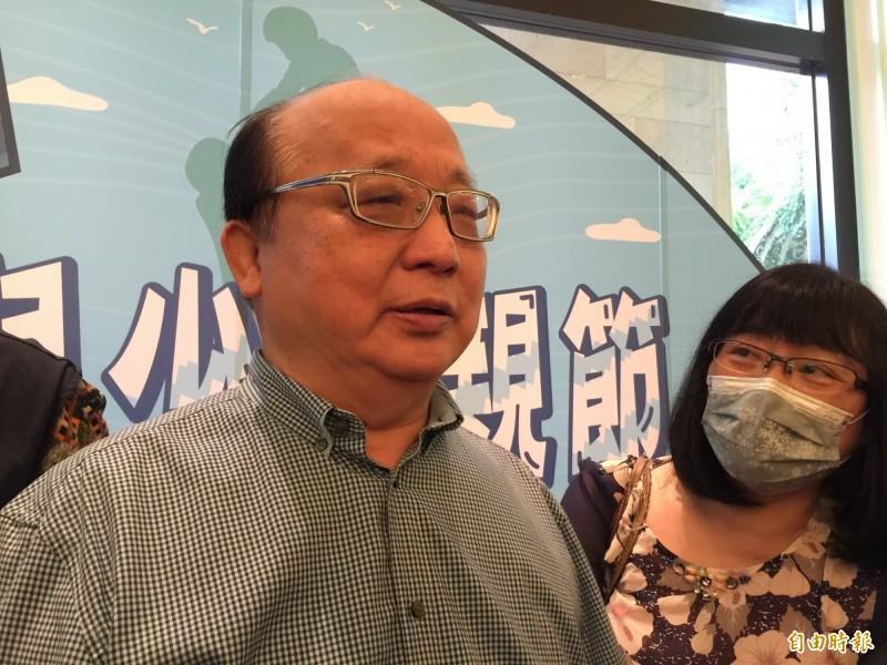 不只前議長,胡志強夫婦也曾在盛唐中醫調身體,胡志強露面說無不適症狀,但會去檢測。(記者蘇孟娟攝)
