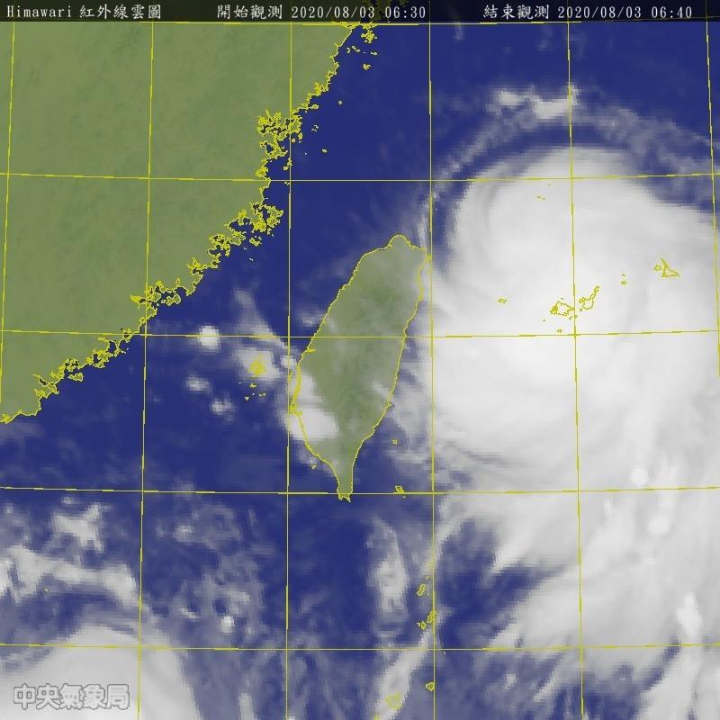 哈格比颱風來勢洶洶。(圖擷取自中央氣象局)