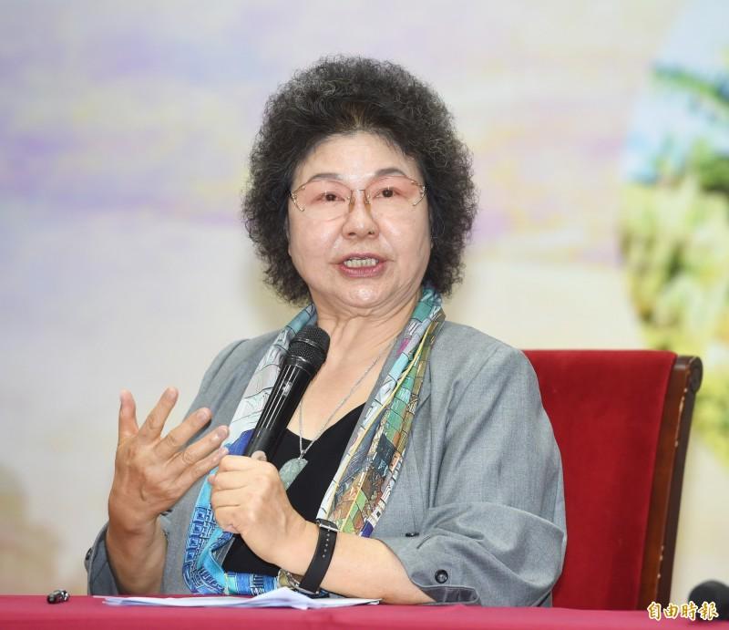 監察院長陳菊表示,人民的聲音就是上帝的聲音,人民的事也是政府的大事,未來監院應致力於縮短民怨與政府的距離。(資料照)